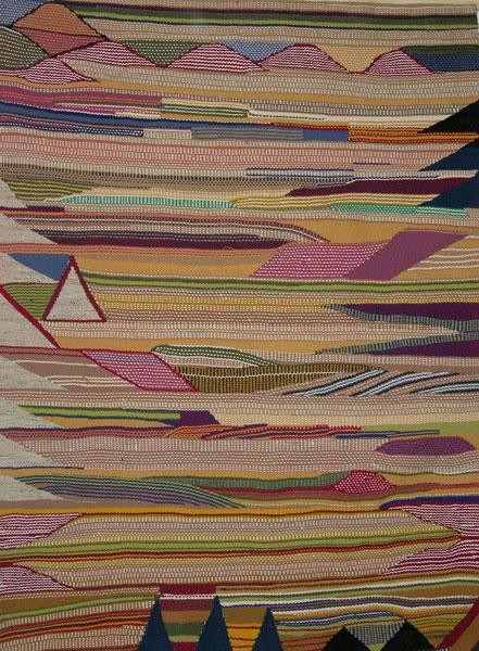 Granada Oro. 2002. Técnica Mixta / Algodón, lana y tafetán. 197 x 140 cm.