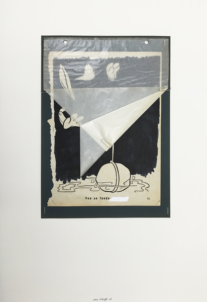 Ana Vidigal - Mentirillas. 2016. Técnica mixta sobre papel. 58 x 40,5 cm. Único