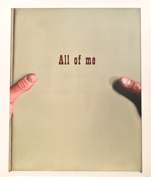 Anne Berning .- All of me. Pintura .- Óleo sobre lienzo, 100 x 80 cms, 2011