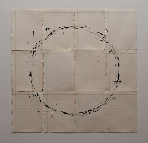 Liliana Porter .- The Attempt III. Circle. 2015. Work on paper. 66 x 68 cm.