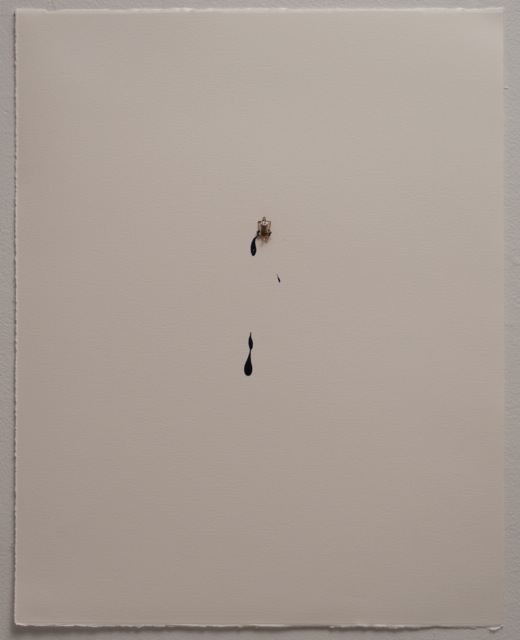 Liliana Porter - Black drips. 2014. Work on paper. 48 x 38 cm.