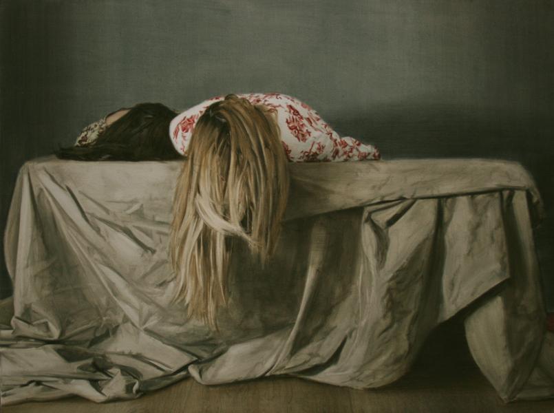 Antonio Montalvo - Lo Desnarrado. 2016. 114 x 150 cm. Óleo sobre lienzo.