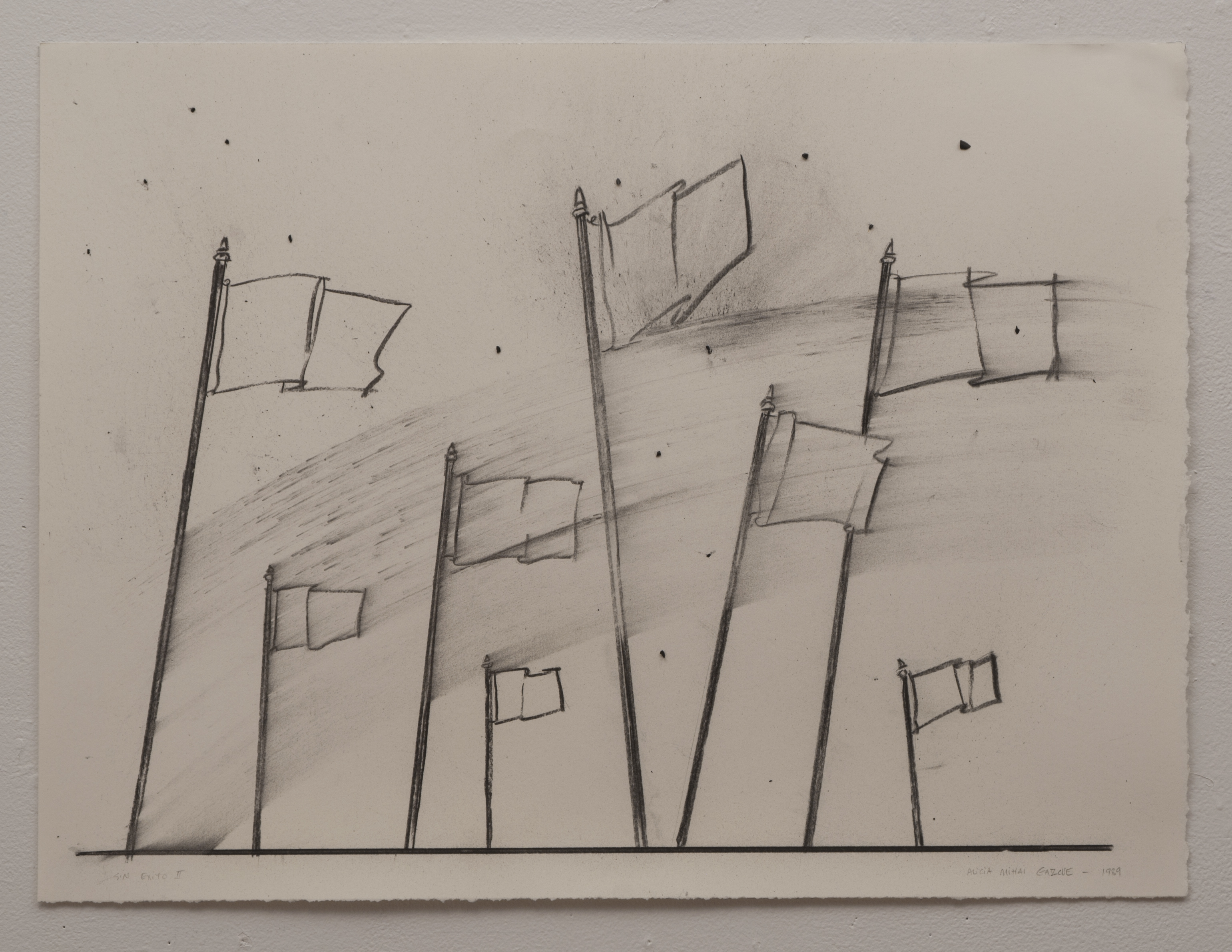 Alicia Mihai Gazcue - Sin exito II (Without Success II). 1989. Carboncillo sobre papel. 48,26 x 66,04 cm.