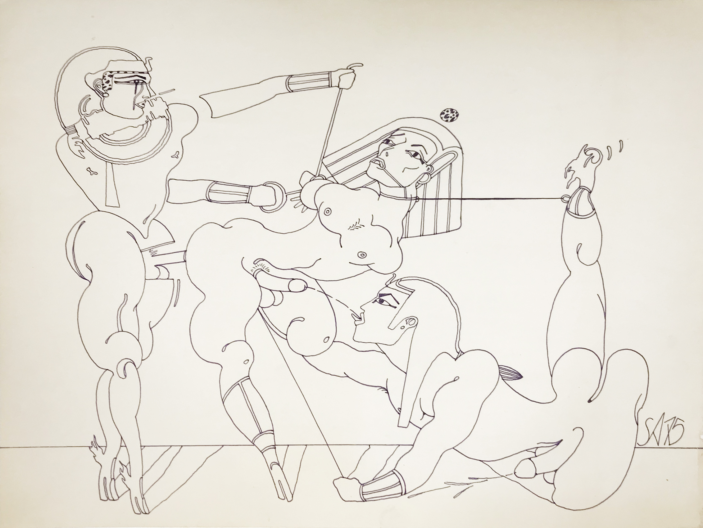 Steven Arnold- Untitled. 1975. Drawing.43 x 35 cm