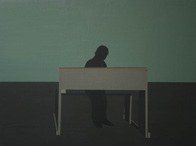 Antonio Montalvo .- Pupitre. Oil on canvas, 49 x 67 cms, 2010