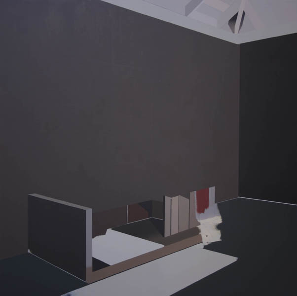 Antonio Montalvo .- Deambulatorio. Oil on canvas, 130 x 130 cms, 2010