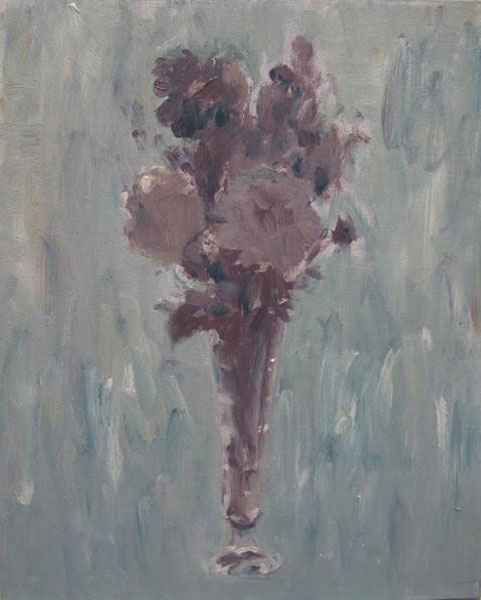 Phiip Jones .- Afternoon flowers. Óleo sobre lienzo, 41 x 33 cms, 2009