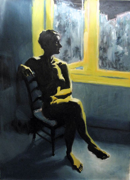 Philip Jones.- Woman by a window. Óleo sobre lienzo, 152 x 112 cms, 2011