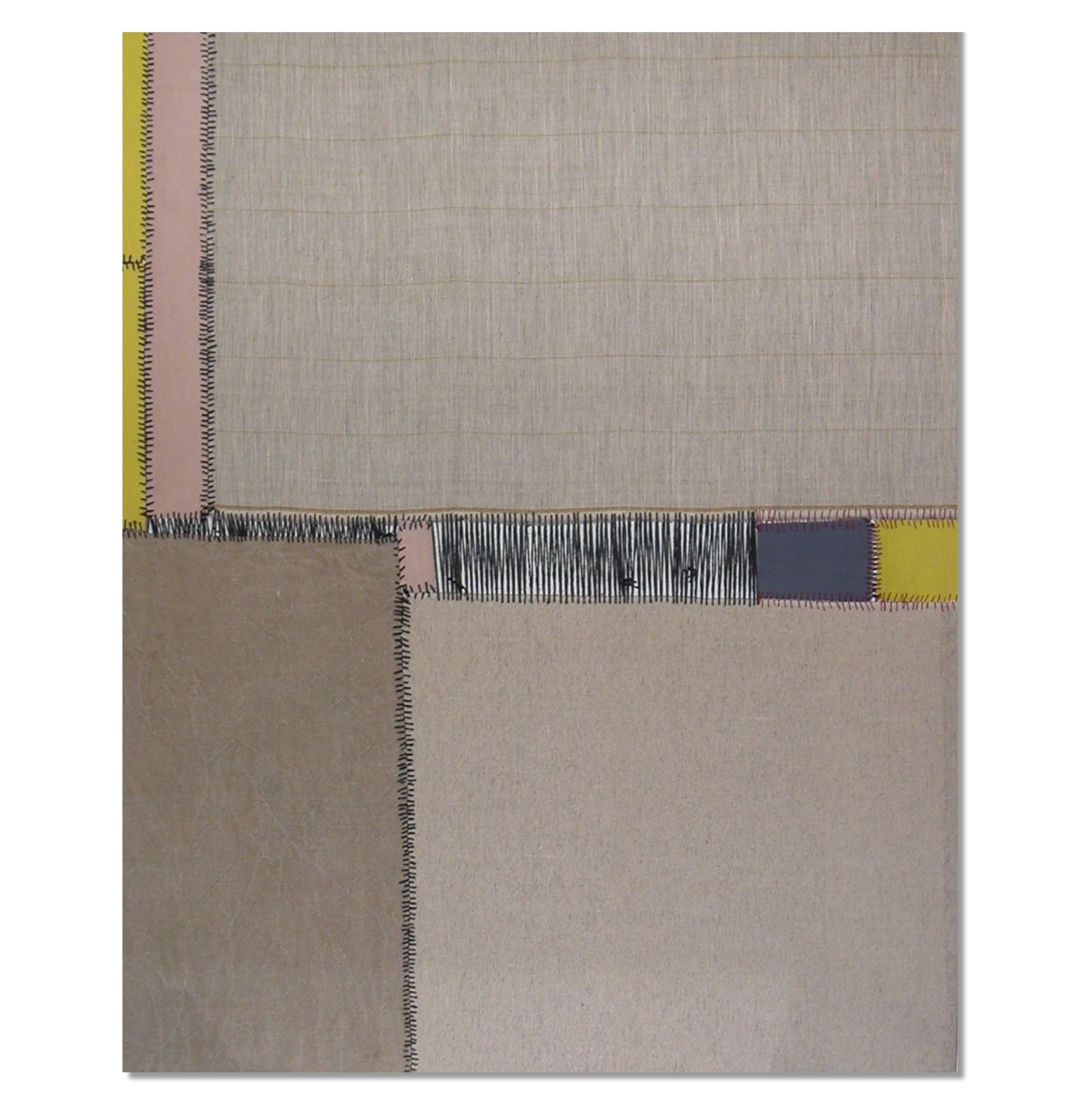 Teresa Lanceta - Norte. 2004. Tejido cosido y pintado. 146 x 114 cm.