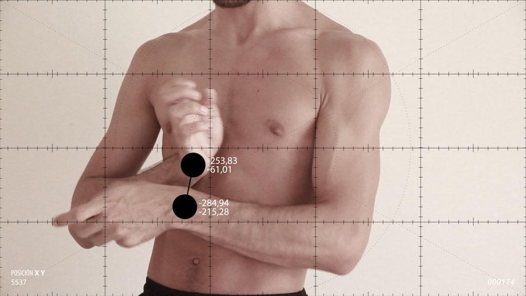Ejercicios de medición sobre el movimiento amanerado de las manos. 2014. Video.