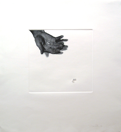 LP310 - Untitled (hand with paper). MEDIA