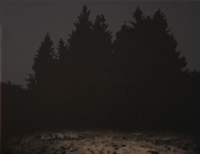 Antonio Montalvo .- Bosque II. Óleo sobre lienzo, 27 x 35 cms, 2012