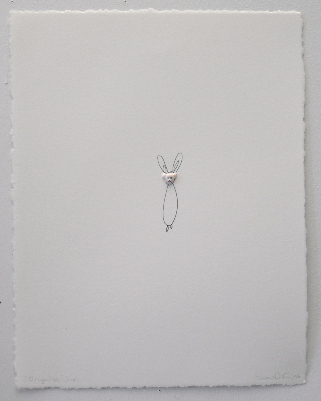 Liliana Porter - Disguise (pink). 2006. Técnica Mixta / Sobre papel. 38 x 28 cm. Único