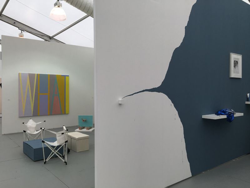 Stand D6. UNTITLED Art Miami 2018. Espacio Minimo. Anne Berning, Nono Bandera and Liliana Porter view.