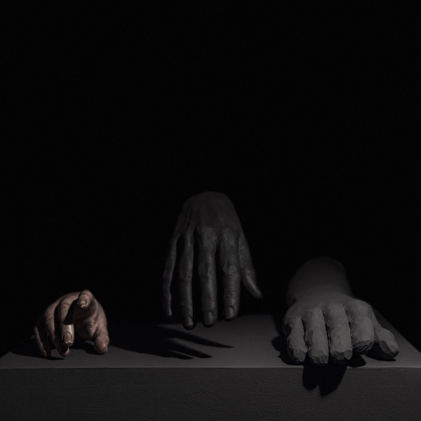 Miguel Angel Gaüeca - Hands from 1594 (After Caravaggio). 2019. 100 x 100
