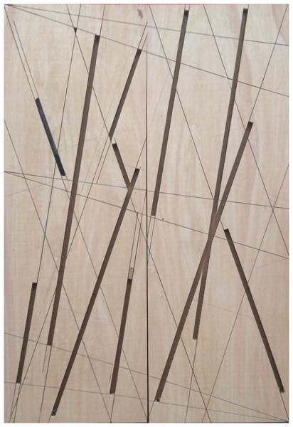 Manu Muniategiandikoetxea - Sin titulo. 2019. Pintura / Madera puertas fibra. 245 x 164 cm. Unico