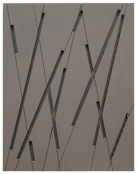 Manu Muniategiandikoetxea - Sin titulo. 2019. Pintura / Madera puertas fibra. 116 x 91,5 cm. Unico