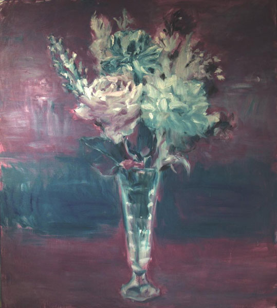Philip Jones .- August flowers. Óleo sobre lienzo, 180 x 160 cms, 2009