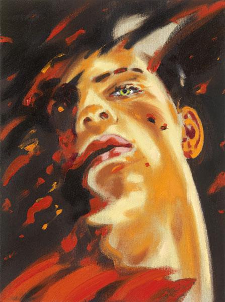 Norbert Bisky .- Lisis. Óleo sobre lienzo, 40 x 30 cms, 2008