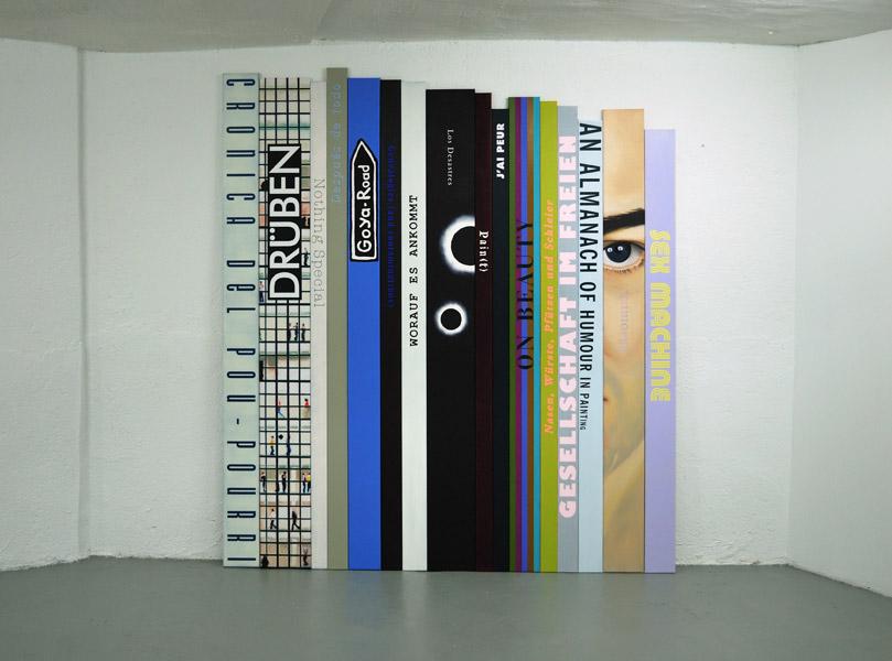 Anne Berning .- Artbooks (Crónica del Pout-Pourri). Pintura .- Óleo sobre lienzo, 250 x 227 cms, 2011